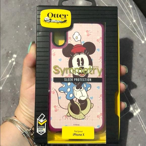 cheaper 00036 9d6fa NEW Minnie Mouse iPhone X OTTERBOX case NWT
